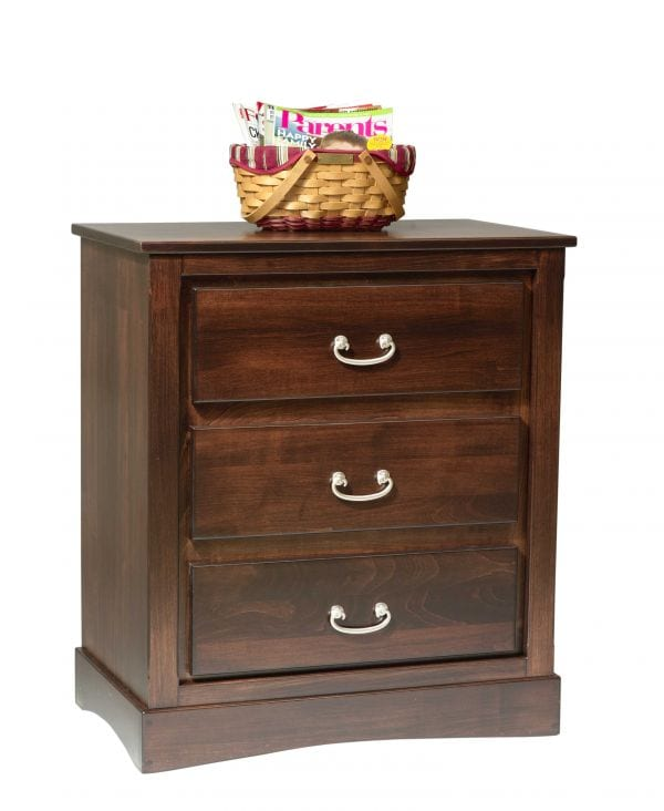 Mission 3-Drwr Nightstand