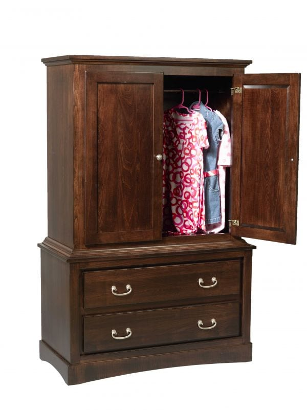 Brown Maple Mission Armoire