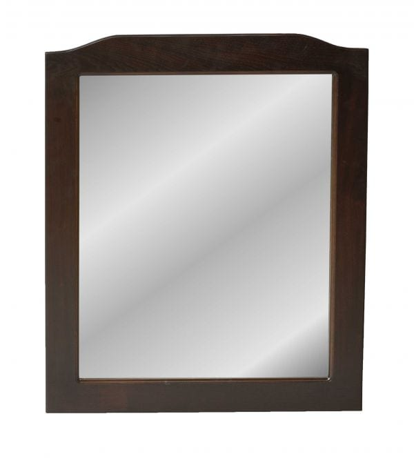 Brown Maple Mission Wall Mirror