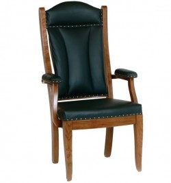 Cherry Client Chair with Leather