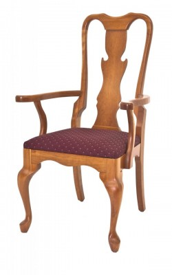 Cherry Queen Anne Arm Chair