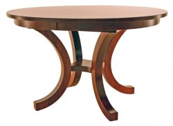 Richmond Pedestal Table with round top shown in cherry