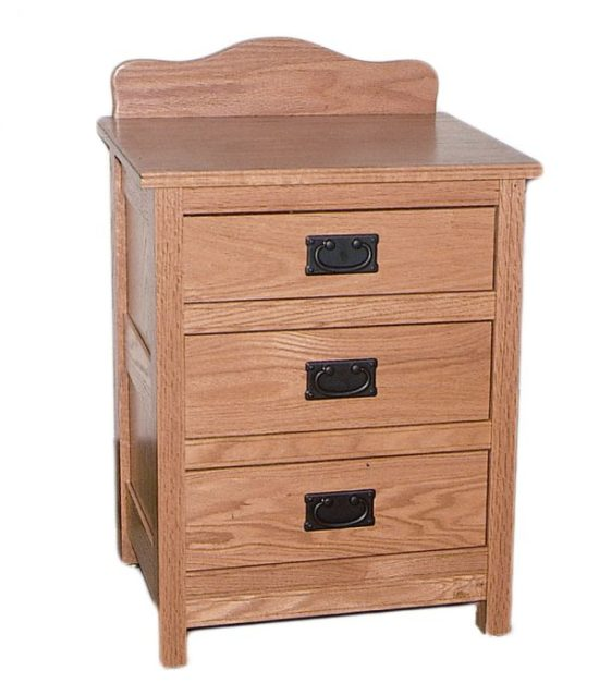 Country Mission 3-Drwr Nightstand
