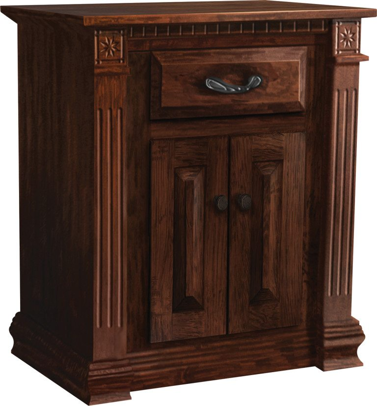 Traditional One Drawer One Door Nightstand