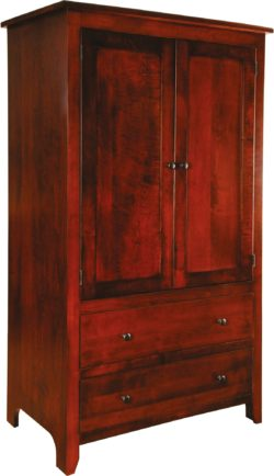 Classic Shaker Two-Drawer Armoire